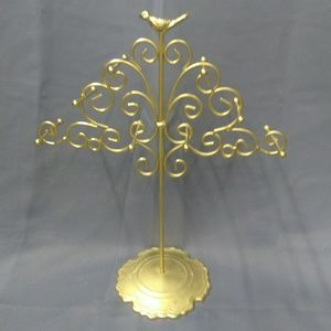 Gold Jewelry Tree w/ Bird at the Top